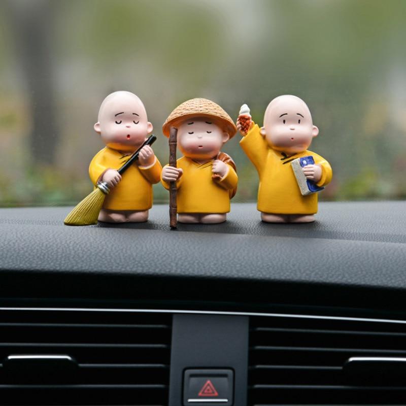 3 PCS Car Accessories Cute Funny Bomb Doll Car Interior Ornaments Dashboard Decoration Jumping Toy Display Creative Decoration
