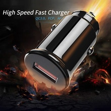Car USB Charger Quick Charge 3.0 Universal 18W Fast Charging in car 1 Port mobile phone charger for