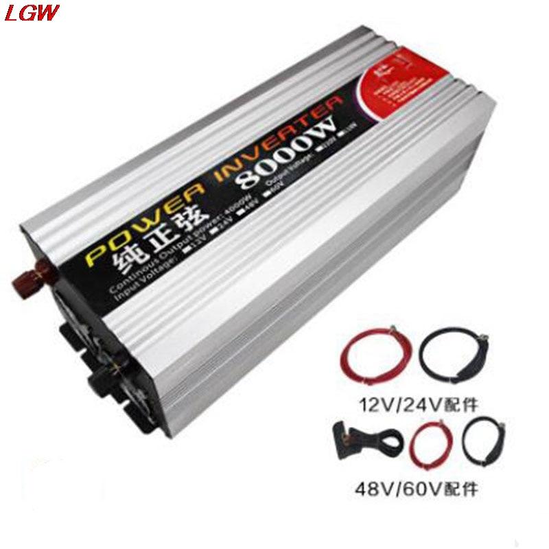 Pure sine wave inverter DC12V 24V 48V 60V to AC220V 8000W solar converter for automotive voltage converter inverter