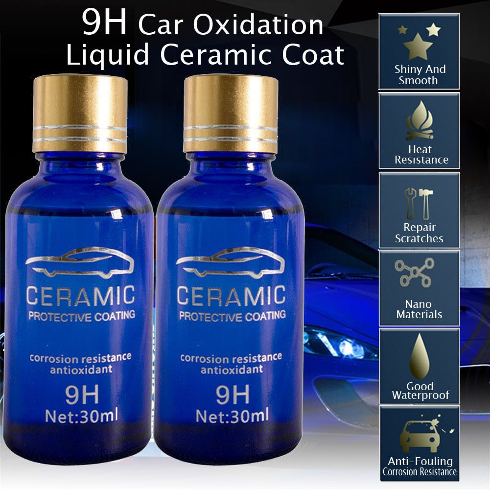 2 шт. 30 мл с уровнем твердости 9H автомобиля окисления жидкости Керамика пальто супер комплект гидрофобного стеклянного покрытия полисилокс...
