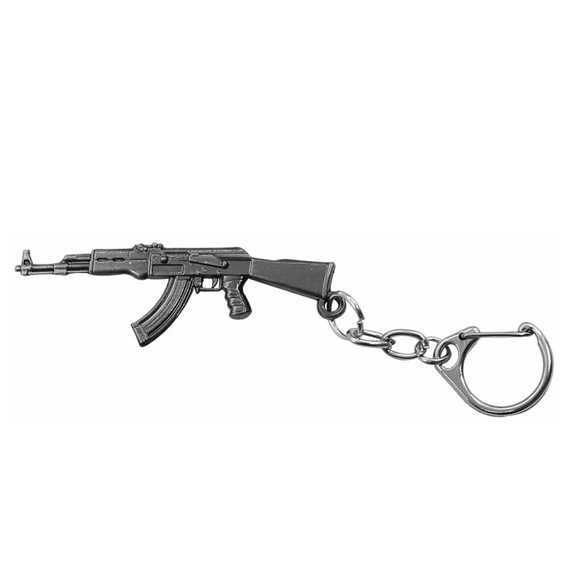 Hip Hop Simulation Weapon Model Keychain Male Mini M4A1 AK47 Gun Key Chain Car Keyring AWP Rifle Sniper Cool Mens Jewelry