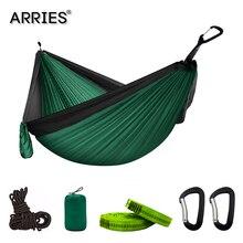 300*200cm taşınabilir kamp paraşüt hamak Survival bahçe dış mekan mobilyası eğlence uyku hamak seyahat çift asılı yatak