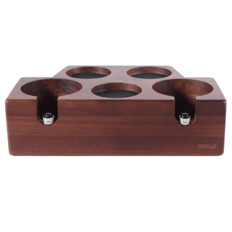 Coffee machine handle support seat solid wood non-slip filling pressure powder hammer cushion cloth powderer base walnut