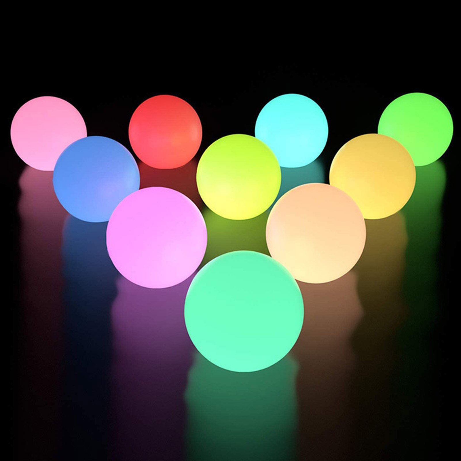 thrisdar 16 color ip68 globe ball garden landscape lawn pathway deck light remote control led swimming pool floating ball light Waterproof LED Garden Ball Light Outdoor Lawn Lamps Rechargeable Christmas Party RGB Landscape Swimming Pool Floating Lights