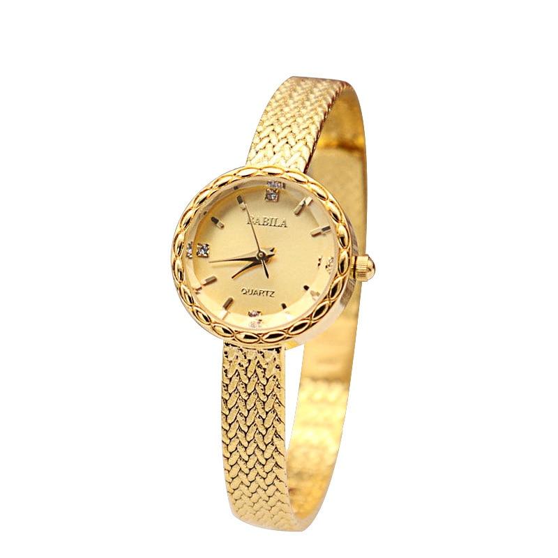 INS Small Gold Watch  Fashion Ladies Watch Retro British Style Japanese Movement Wheat Ear Edge Watch
