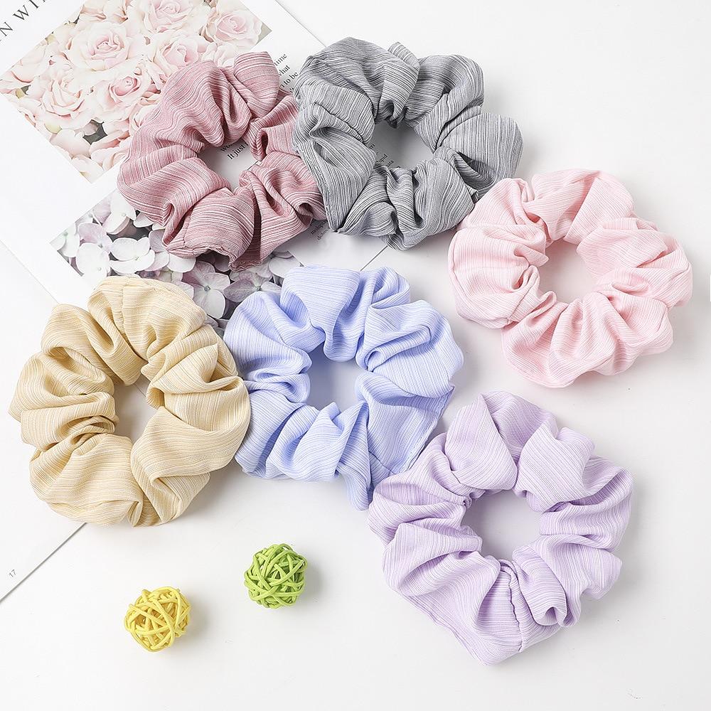 Sweet Rubber Band For Women Summer Ponytail Scrunchie Accessories Girls Hair Ties Headwear Hair Rope Female Cotton Schrunchy