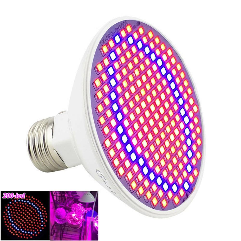 Phytolamp Full Spectrum Lamp E27 Lamp 200 LED Light For Plant Grow Light Red Blue LED For Plants Flower Growth Bulb 200 Lumens