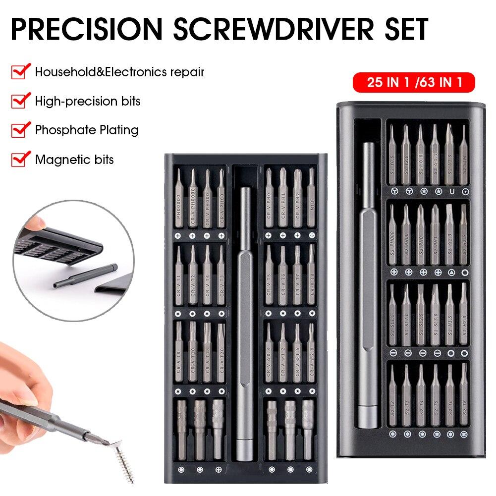 Набор отверток, набор магнитных отверток, прецизионные биты, электрические отвертки Xiaomi Iphone, компьютер, три крыла, звездообразные отвертки, ...