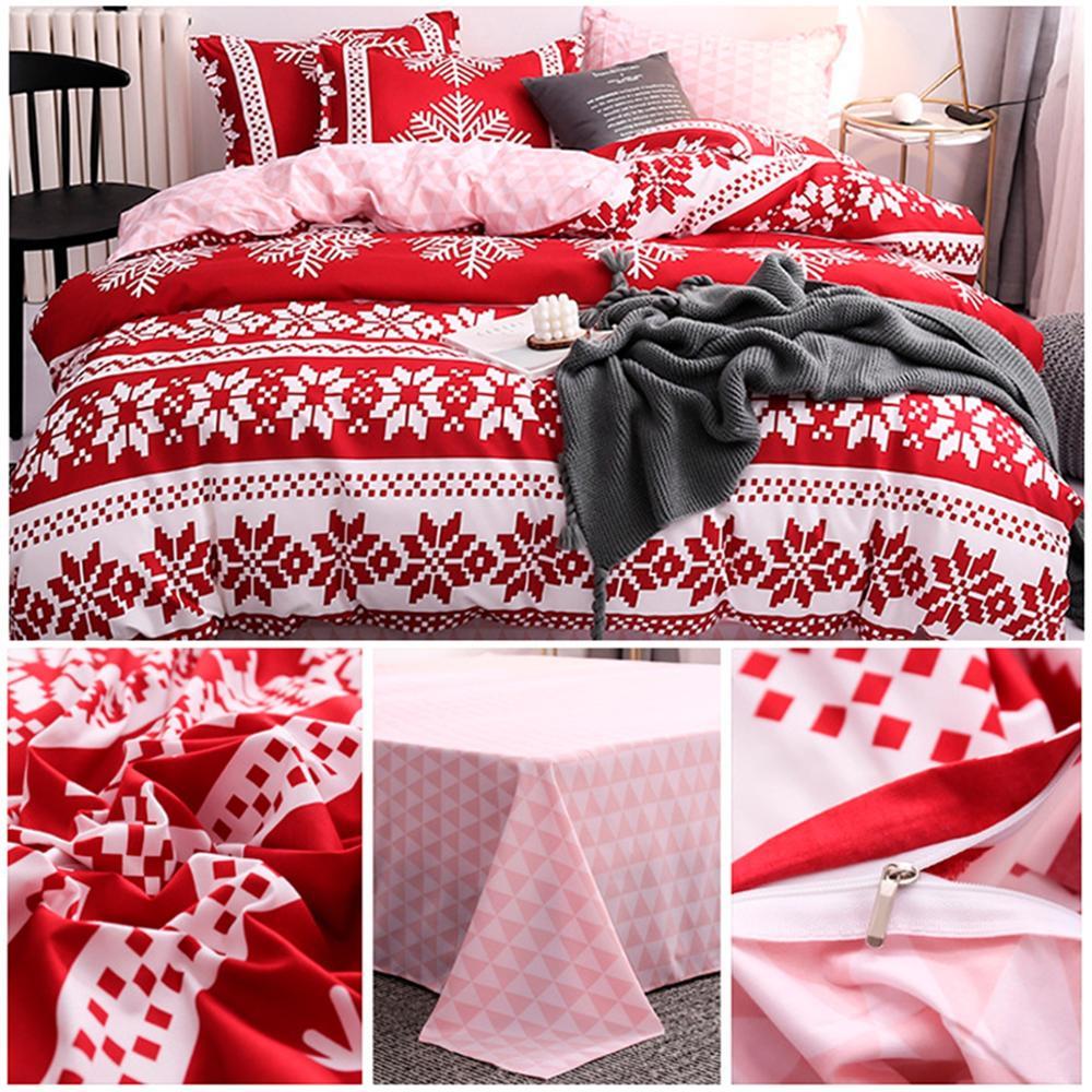 Estilo americano natal conjunto de cama ab lado conjunto cama king size luxo capa edredon conjunto casa roupas femininas