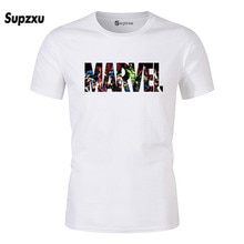New Fashion Men Marvel Short Sleeve T-shirt, Superhero Print, Crew-neck T-shirt, Marvel Comic Shirts, Tops, Men Clothing, T-shir