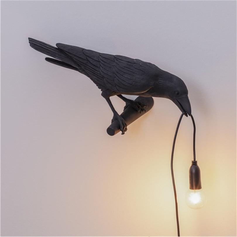 مصباح جداري LED على شكل طائر ، مصباح معلق بحبل ، تصميم مصمم ، مثالي لغرفة المعيشة أو الردهة أو المطعم.