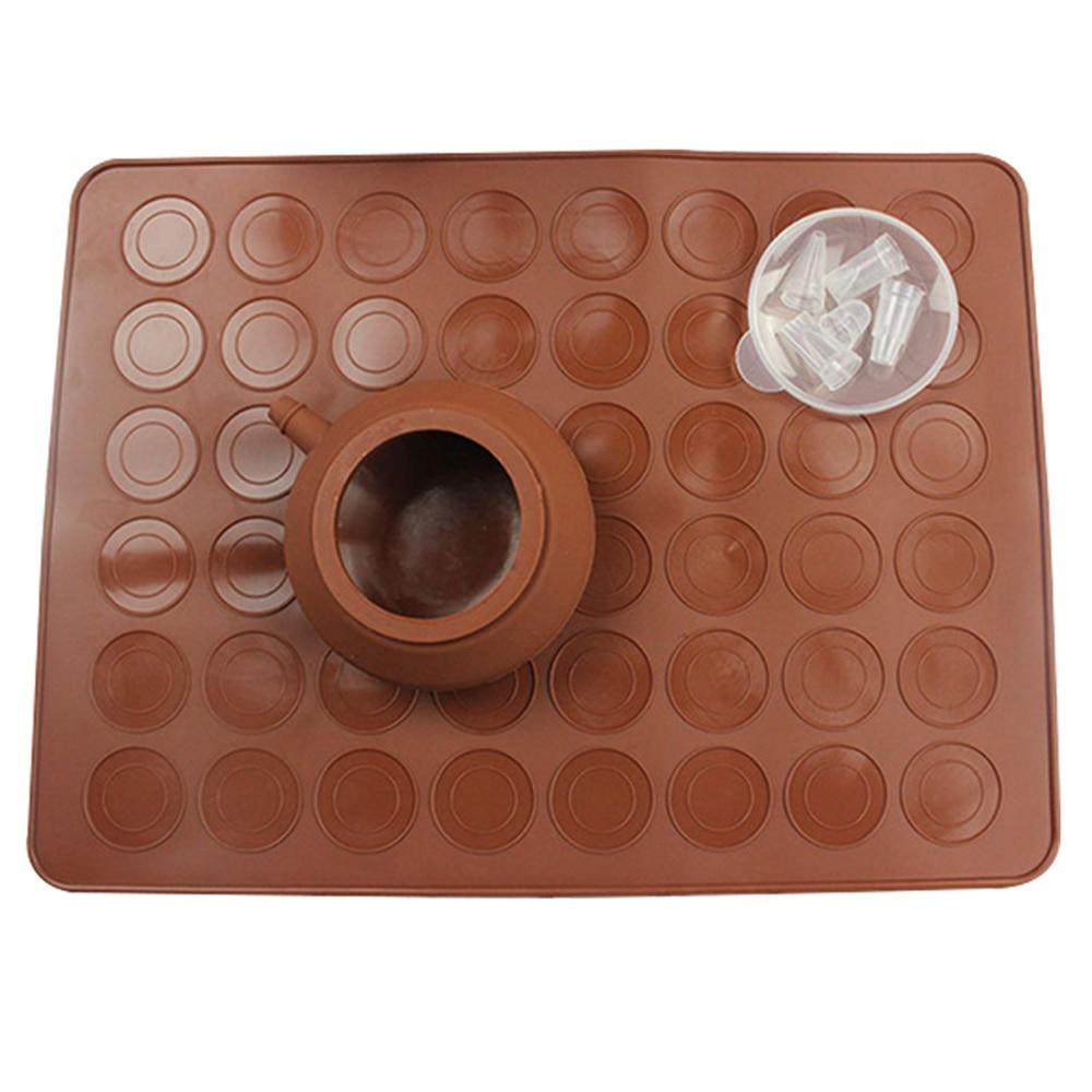 Macaroon DIY decorador de hornear, tapete de silicona para macarrón, Set de decoración, caja de Color, molde de silicona, molde de pastel