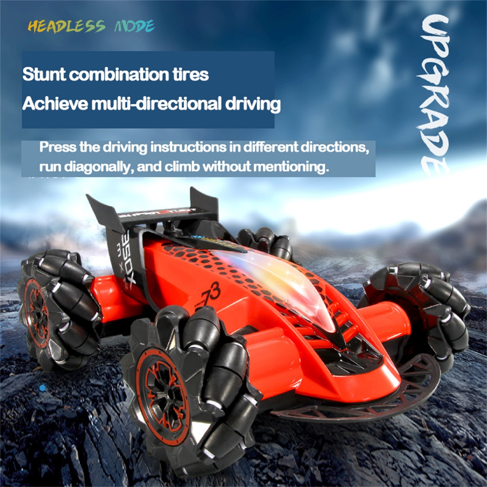 Spray Led Light Vehiclehot Selling High Quality High Quality Remote 2.4g 4wd Rc Stunt Car,gesture Se