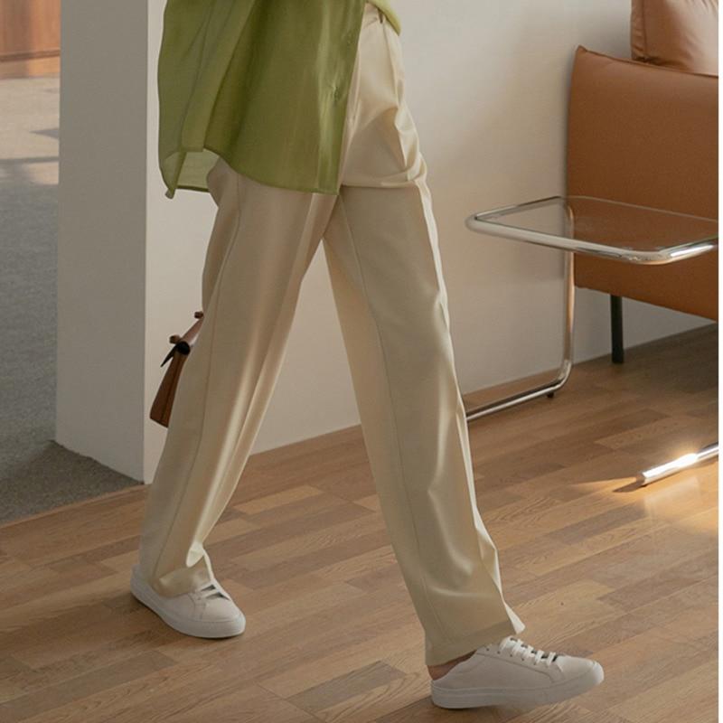 Vertical High Waist Pants Women's 2021 Spring And Autumn Leisure Korean Version Loose And Thin Strai
