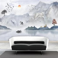 milofi professional custom wallpaper mural marble pattern new chinese artistic conception landscape tv background wall