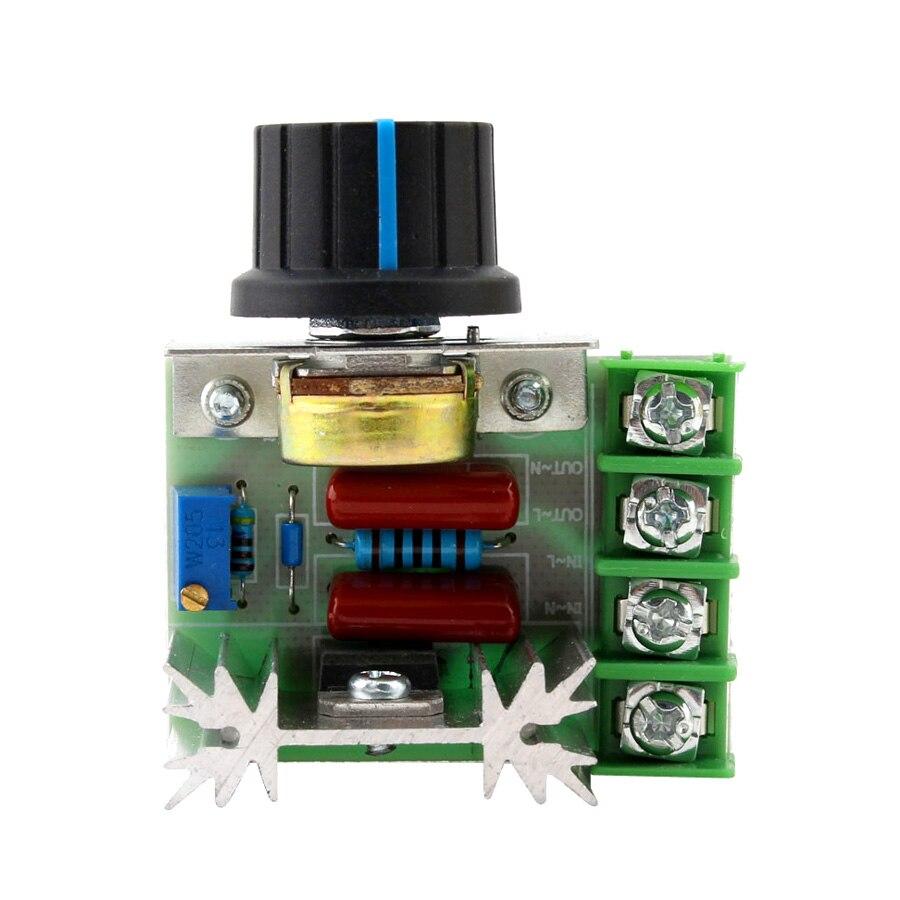 220 v dimmer controlador dimer 2000 w velocidade termostato eletrônico controlador do motor iluminação brilho scr volt regulador dimmers