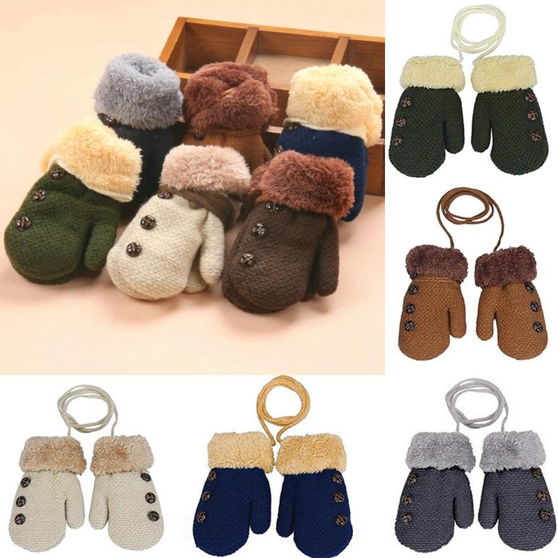 Детские перчатки детские варежки Зимние шерстяные вязаные перчатки детские теплые веревочные варежки для детей 1-3 лет Детские перчатки
