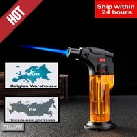 butane jet torch cigarette windproof lighter plastic fire ignition burner no gas ca gas lighter turbo dropship suppliers