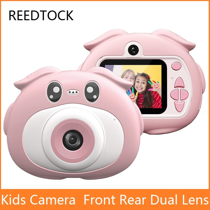 Детская камера с двойным объективом Мини HD 1080P видео подарок ребенку на день рождения цифровая камера 20 м спортивные игрушки для детей камер...