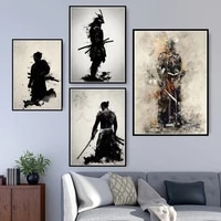 poster and prints hot armored samurai japan anime artwork paintings art fashion canvas wall pictures for living room home decor