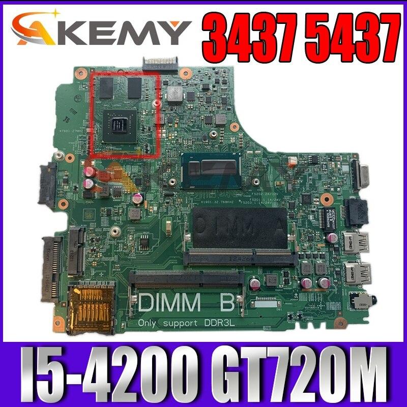 Akemy لديل انسبايرون 3437 5437 كمبيوتر محمول اللوحة CN-0YFV4C YFV4C SR170 I5-4200u GT 720M 2GB DOE40-HSW 12314-1 اللوحة