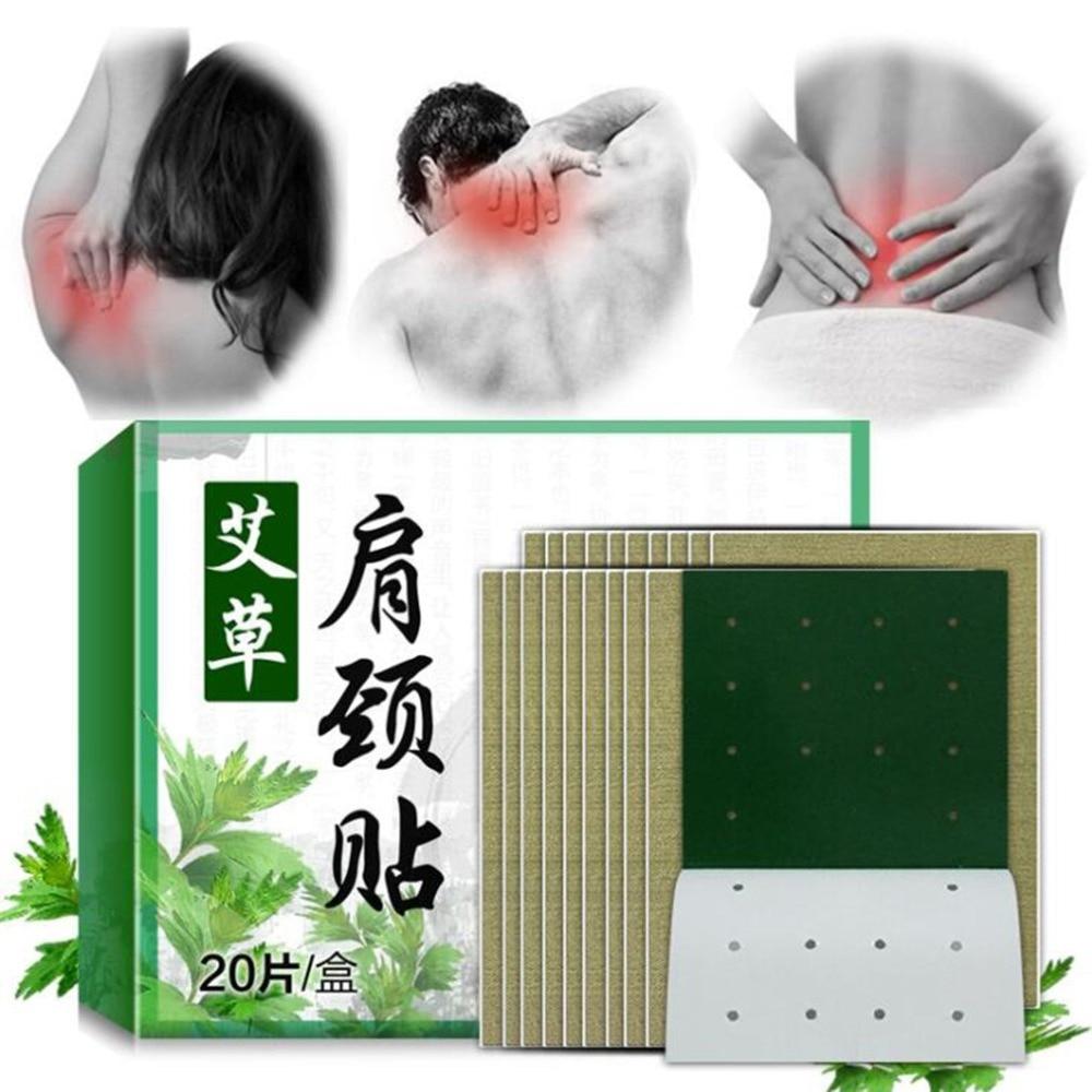 20 pièces/ensemble extrait dabsinthe soins de santé Detox Relax Patch taille cou douleur musculaire Patch dépaule raide