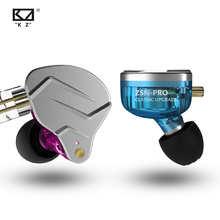 KZ ZSN Pro In Ear Earphones Hybrid technology 1BA+1DD HIFI Bass Metal Earbuds Sport Noise Cancelling Headset Monitor