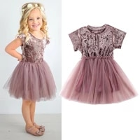 aa toddler kids baby girl princess dress wedding pageant party tutu dresses clothes cute ball gown dress