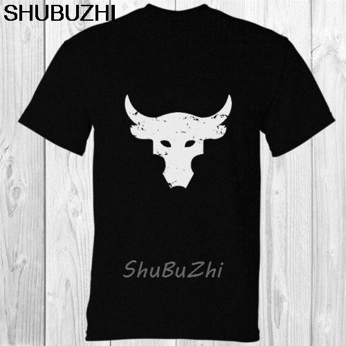 Camiseta dwayne johnson brahma bull, camiseta de tatuagem preta, de desenho animado, unissex, nova moda, caixa sbz3446