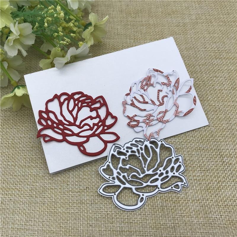 Love Flower Metal Cutting Dies Stencils For DIY Scrapbooking Decorative Embossing Handcraft Die Template