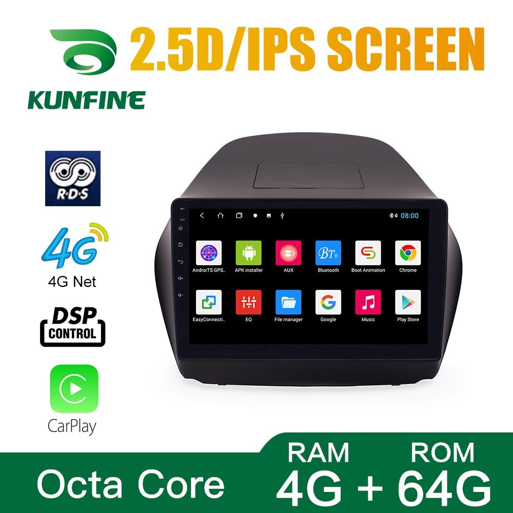 Octa Core 1024*600 Android 10,0 navegación GPS con DVD para coche REPRODUCTOR DE Deckless estéreo del coche para Hyundai IX35 2010-2014 Radio Unidad Principal