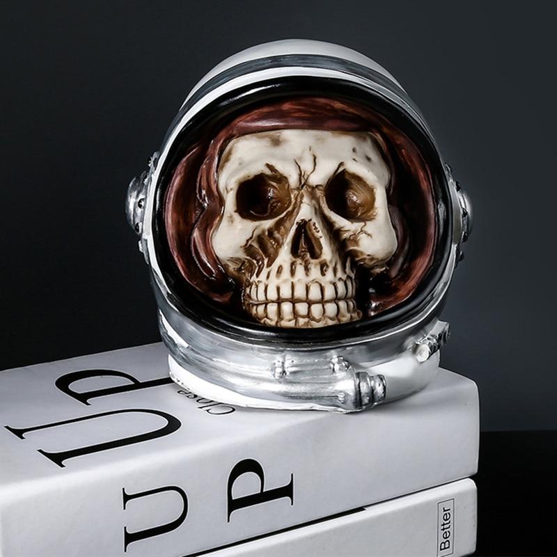 الجمجمة رائد الفضاء حصالة على شكل حيوان عداد عملة العد عملة صندوق توفير المال جرة عملات صندوق تخزين ل USD اليورو GBP المال الديكور