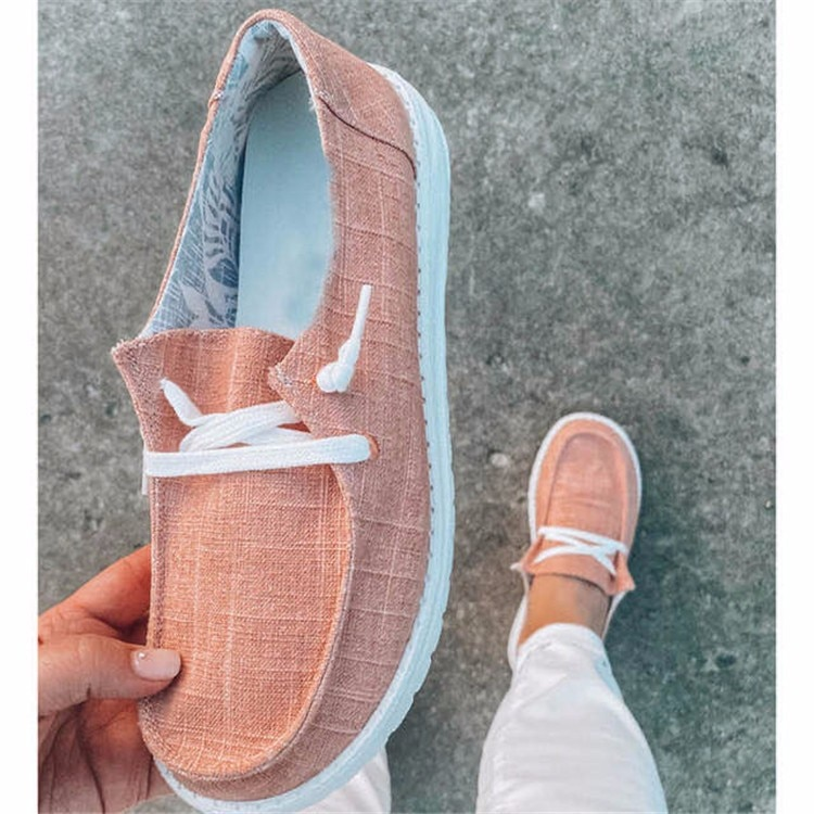 AQ412 femmes chaussures plates mocassins léopard chaussures décontractées dames sans lacet grande taille tissu Femme Zapatos Mujer Sapato confort Femme chaussures