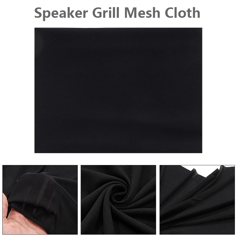 Black Speaker Grill Protective Cloth Stereo Gille Fabric Speaker Mesh Cloth Dustproof Size 1.6x0.5m