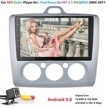 Autoradio Android 9 de 2 Din 9 pouces   Pour ford focus EXI MT 2 3 Mk2 2004 2005 2006 2007 2008 2009, lecteur multimédia GPS avec SWC