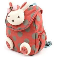 3D lindo conejo Niño niños mochila Animal dibujos animados cajas de almuerzo bolsa de transporte Pre Escuela Primaria mochila