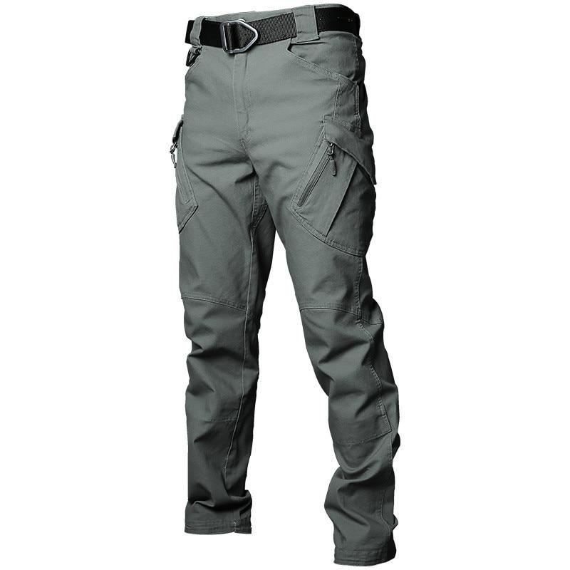 Брюки-карго мужские в стиле милитари, водонепроницаемые быстросохнущие тактические штаны с карманами, повседневная одежда для улицы