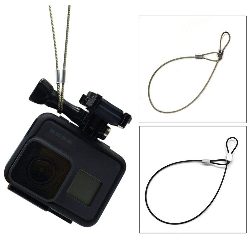 Pas bezpieczeństwa smycz ze stali nierdzewnej smycz na rękę 30cm dla GoPro sport Action akcesoria do kamer wideo nowość