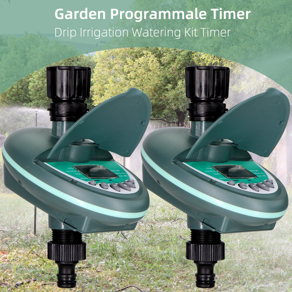 MUCIAKIE-مؤقت سقي الحديقة القابل للبرمجة ، نظام الري بالتنقيط للشرفة ، وحدة تحكم أسبوعية ، برمجة يومية ، شاشة LCD