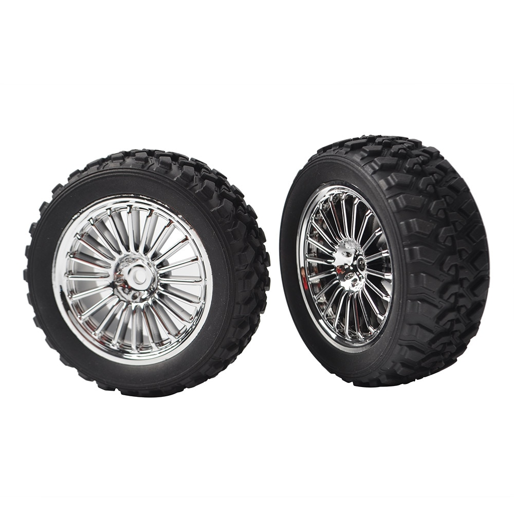 4pcs RC Rally Rubber Tires/Wheel Rims 12mm Hex for HSP HPI Kyosho Tamiya 54861 1/10 RC Off Road Racing Model Car enlarge