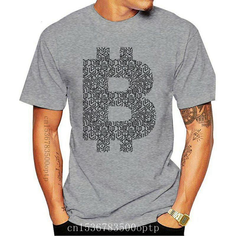 New Tee Tops Clothing Bitcoin BTC Circuit T-Shirt Circuit Diagram T Shirts Youth Natural Cotton Tee Shirt Brand Vintage Tee Shir