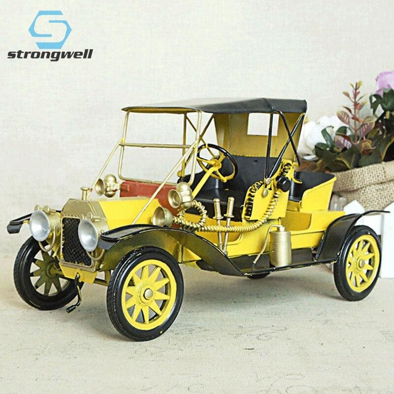 Modelo de Carro Artesanato do Vintage Decoração para Casa Strongwell Ferro Forjado Artesanal Clássico Ônibus Ornamento Crianças Presentes Ano Novo