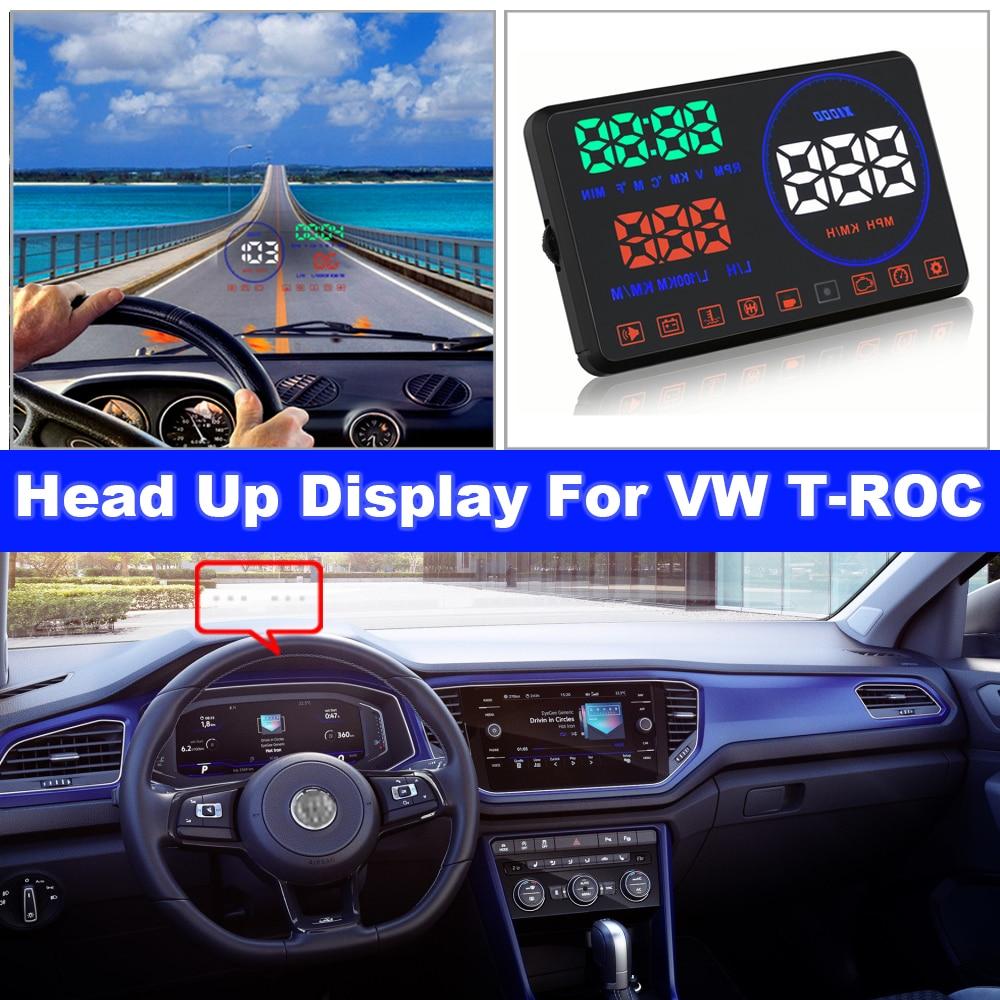 Car HUD Head Up Display Auto Electronic Accessories For Volkswagen VW T-ROC/TROC/T ROC R/AC 2017-2021 OBD/OBD2/OBD 2/OBDII Film