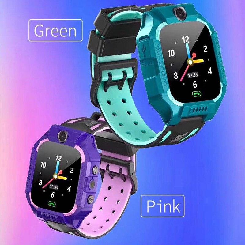 Reloj inteligente Z6 para niños IP67, impermeable, 2G, rastreador GPS de tarjeta SIM SOS, reloj inteligente antipérdida para IOS Android PK Z5 Q12 Q50