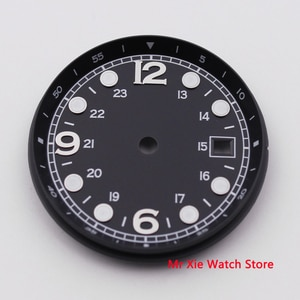 33MM BLIGER Sterile Dial Date Window Luminous Marks Fit for ETA 2824 2836 MIYOTA 8215 821A Movement Watch Dial
