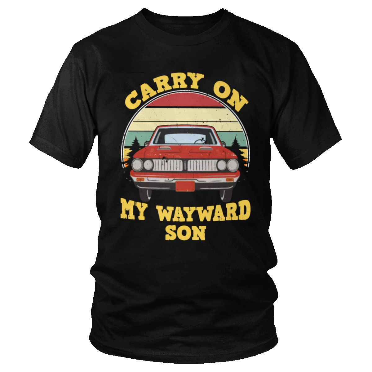 T-shirts sobrenaturais t-shirts masculinas do vintage carry on my wayward filho escuro heather único t algodão impresso vestuário presente ventilador topos