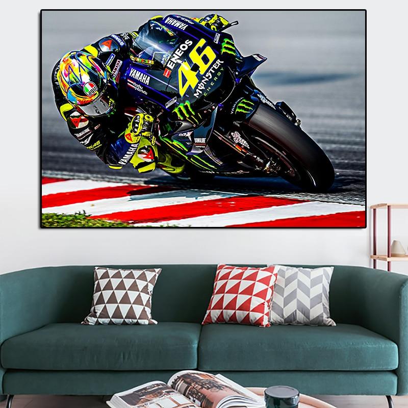 Картина на холсте, настенные художественные картины, Мотоспорт, гоночный велосипед, спорт, Супербайк, постеры и принты для гостиной, домашни...