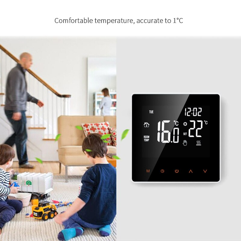 Tuya Smart Life WiFi Thermostat Temperature Controller For Water/Electric Floor Heating Water/Gas Boiler Works With Alexa Google