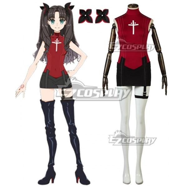 El destino/último bis Demi-sirviente Lancer Rin Tohsaka Tousaka Toosaka vestido Anime Cosplay traje E001