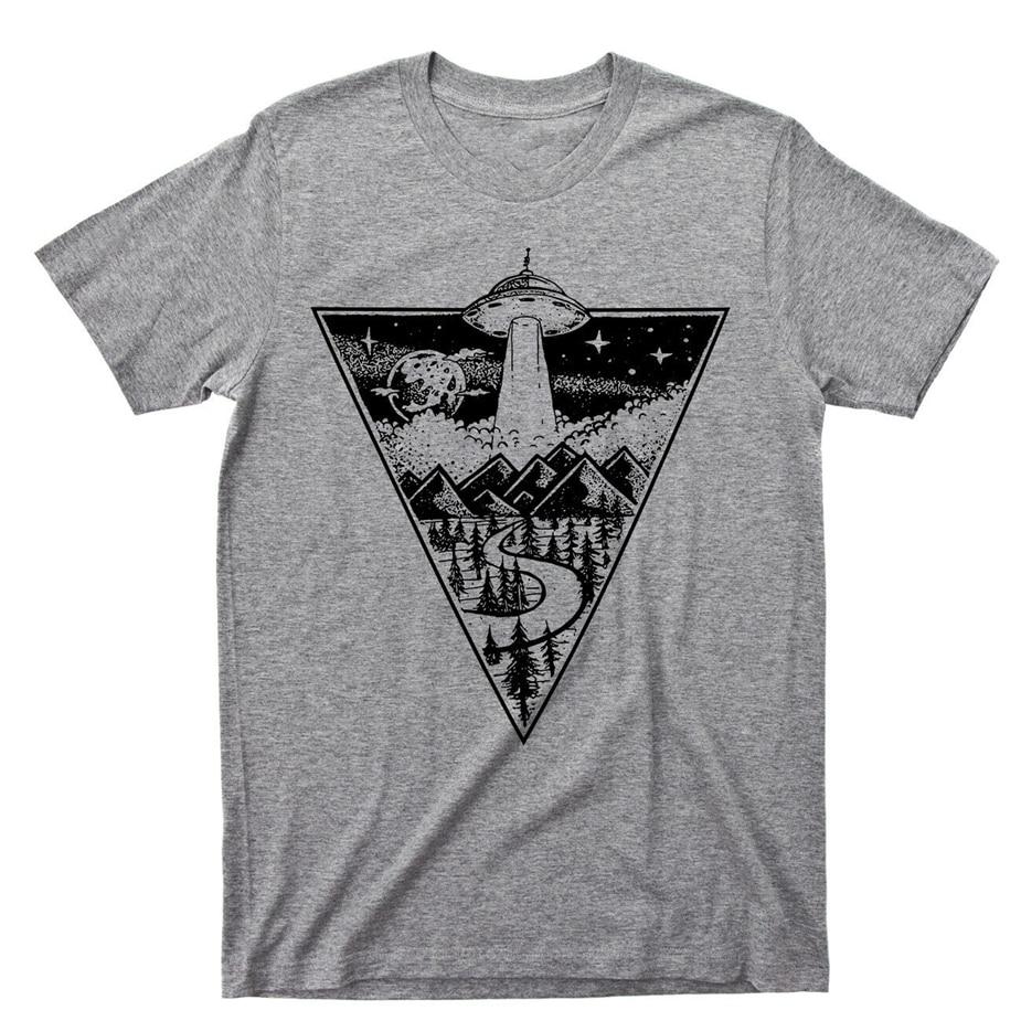 Alien Flying Saucer camiseta extraterrestre Ufo abducción Área 51 Roswell Tee Gyms Camiseta deportiva